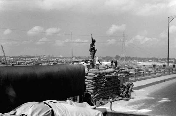 Guarded Bridge, Vietnam, 1968