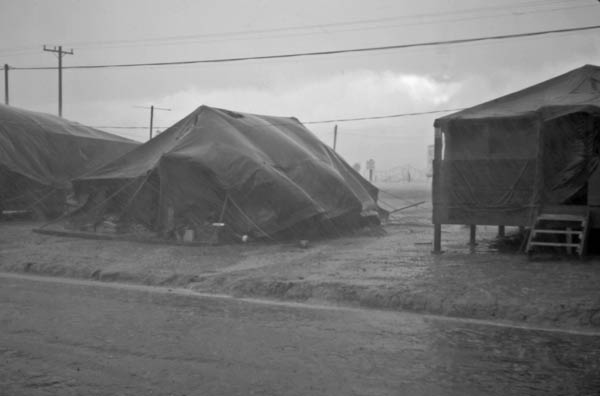 Tents in a Monsoon Rain, Vietnam, 1968